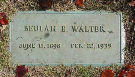 WALTER, BEULAH E - Washington County, Oklahoma   BEULAH E WALTER - Oklahoma Gravestone Photos