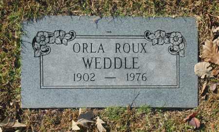 WEDDLE, ORLA ROUX - Washington County, Oklahoma   ORLA ROUX WEDDLE - Oklahoma Gravestone Photos