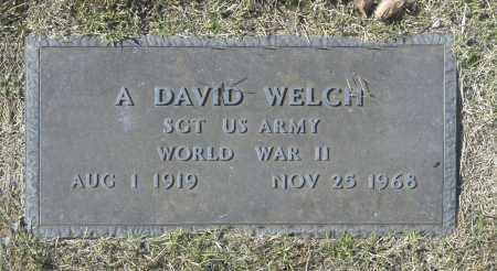 WELCH, A DAVID - Washington County, Oklahoma   A DAVID WELCH - Oklahoma Gravestone Photos