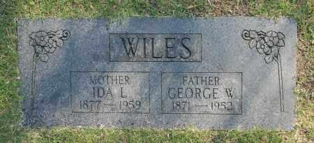 WILES, IDA L. - Washington County, Oklahoma   IDA L. WILES - Oklahoma Gravestone Photos