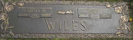WILES, ORPHA N. - Washington County, Oklahoma | ORPHA N. WILES - Oklahoma Gravestone Photos