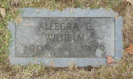WILHELM, ALLEGRA G - Washington County, Oklahoma   ALLEGRA G WILHELM - Oklahoma Gravestone Photos