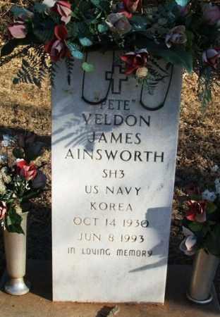 """AINSWORTH (VETERAN KOR), VELDON JAMES """"PETE"""" - Washita County, Oklahoma   VELDON JAMES """"PETE"""" AINSWORTH (VETERAN KOR) - Oklahoma Gravestone Photos"""