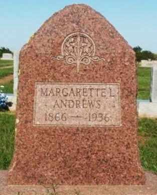 ANDREWS, MARGARETTE L - Washita County, Oklahoma | MARGARETTE L ANDREWS - Oklahoma Gravestone Photos