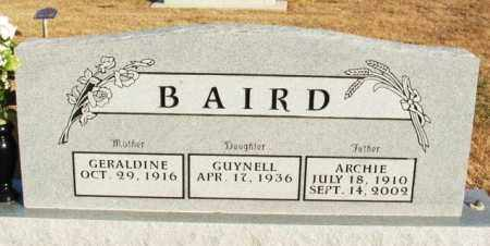 BAIRD, GUYNELL - Washita County, Oklahoma | GUYNELL BAIRD - Oklahoma Gravestone Photos