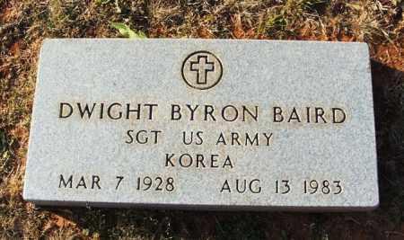 BAIRD (VETERAN KOR), DWIGHT BYRON - Washita County, Oklahoma   DWIGHT BYRON BAIRD (VETERAN KOR) - Oklahoma Gravestone Photos