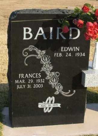 BAIRD, EDWIN - Washita County, Oklahoma | EDWIN BAIRD - Oklahoma Gravestone Photos