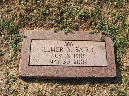 BAIRD, ELMER Y - Washita County, Oklahoma | ELMER Y BAIRD - Oklahoma Gravestone Photos