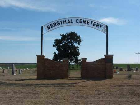 *BERGTHAL, *ENTRANCE - Washita County, Oklahoma | *ENTRANCE *BERGTHAL - Oklahoma Gravestone Photos