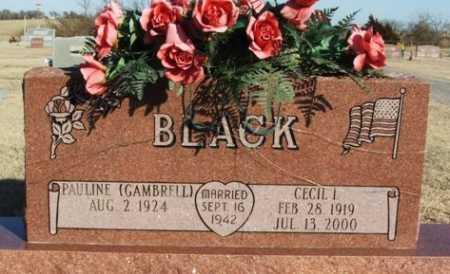 BLACK, PAULINE - Washita County, Oklahoma | PAULINE BLACK - Oklahoma Gravestone Photos