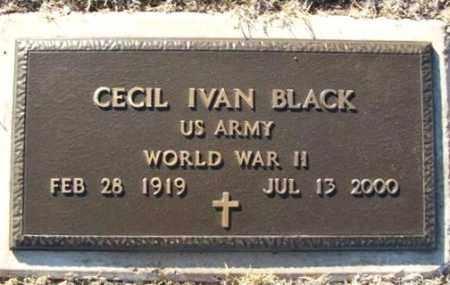 BLACK (VETERAN WWII), CECIL IVAN - Washita County, Oklahoma | CECIL IVAN BLACK (VETERAN WWII) - Oklahoma Gravestone Photos