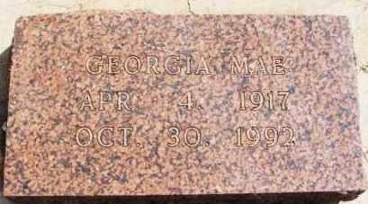 BONHAM, GEORGIA MAE - Washita County, Oklahoma   GEORGIA MAE BONHAM - Oklahoma Gravestone Photos