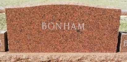 BONHAM, SURNAME STONE - Washita County, Oklahoma   SURNAME STONE BONHAM - Oklahoma Gravestone Photos