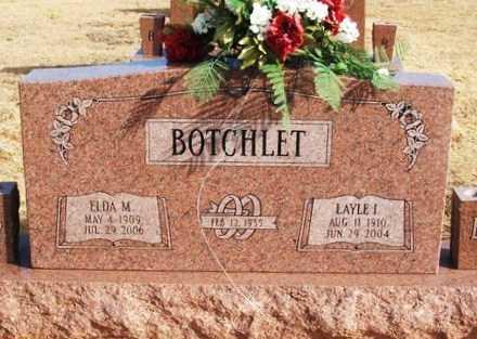 BOTCHLET, ELDA M - Washita County, Oklahoma | ELDA M BOTCHLET - Oklahoma Gravestone Photos