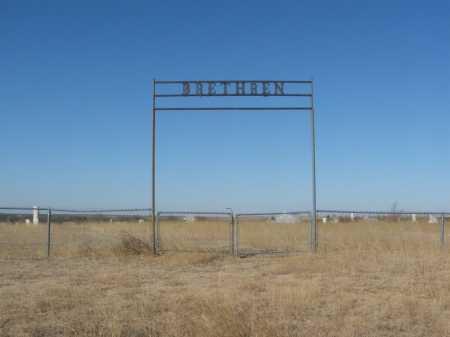*BRETHREN, *ENTRANCE - Washita County, Oklahoma   *ENTRANCE *BRETHREN - Oklahoma Gravestone Photos