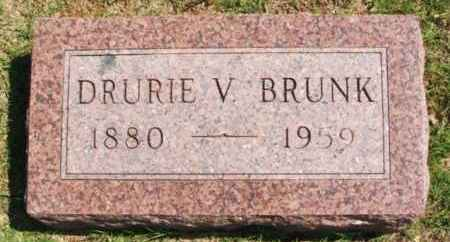 BRUNK, DRURIE V - Washita County, Oklahoma | DRURIE V BRUNK - Oklahoma Gravestone Photos