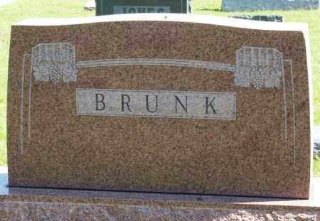 BRUNK, SURNAME STONE - Washita County, Oklahoma   SURNAME STONE BRUNK - Oklahoma Gravestone Photos