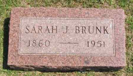 BRUNK, SARAH J - Washita County, Oklahoma   SARAH J BRUNK - Oklahoma Gravestone Photos