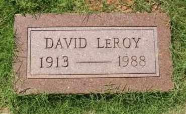 BUNCH, DAVID LEROY - Washita County, Oklahoma | DAVID LEROY BUNCH - Oklahoma Gravestone Photos