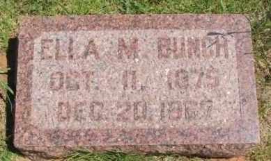 BUNCH, ELLA M - Washita County, Oklahoma | ELLA M BUNCH - Oklahoma Gravestone Photos