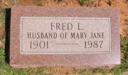 BUNCH, FRED L - Washita County, Oklahoma | FRED L BUNCH - Oklahoma Gravestone Photos