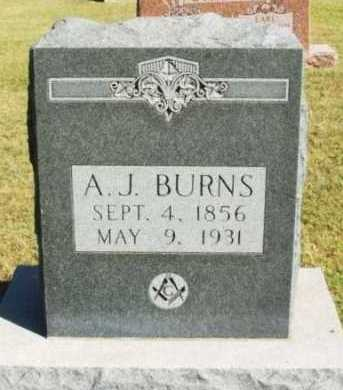 BURNS, A J - Washita County, Oklahoma | A J BURNS - Oklahoma Gravestone Photos