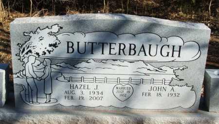 BUTTERBAUGH, HAZEL J - Washita County, Oklahoma   HAZEL J BUTTERBAUGH - Oklahoma Gravestone Photos