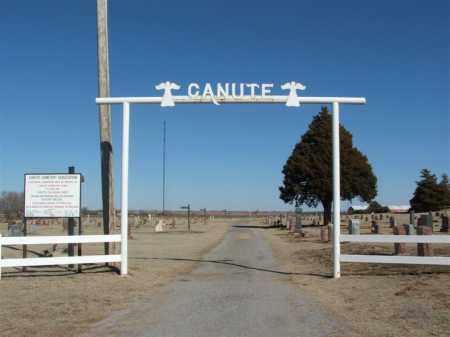 *CANUTE, *ENTRANCE - Washita County, Oklahoma | *ENTRANCE *CANUTE - Oklahoma Gravestone Photos