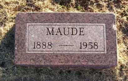COMBS, MAUDE - Washita County, Oklahoma | MAUDE COMBS - Oklahoma Gravestone Photos