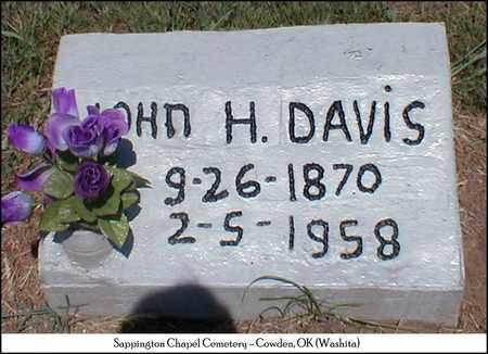 DAVIS, JOHN HENRY - Washita County, Oklahoma | JOHN HENRY DAVIS - Oklahoma Gravestone Photos