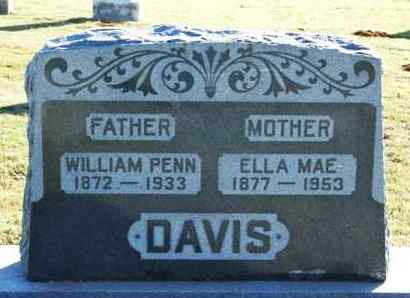 DAVIS, WILLIAM PENN - Washita County, Oklahoma | WILLIAM PENN DAVIS - Oklahoma Gravestone Photos