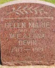 DEVIN, HELEN MARIE - Washita County, Oklahoma | HELEN MARIE DEVIN - Oklahoma Gravestone Photos