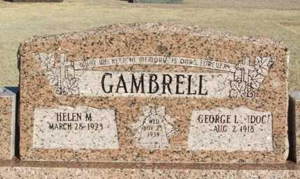 GAMBRELL, HELEN M - Washita County, Oklahoma | HELEN M GAMBRELL - Oklahoma Gravestone Photos