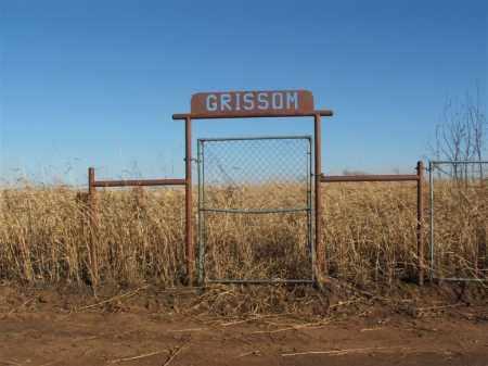 *GRISSOM, *ENTRANCE - Washita County, Oklahoma   *ENTRANCE *GRISSOM - Oklahoma Gravestone Photos