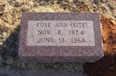 "COMBS HILL, ROSE ANN ""KITE"" - Washita County, Oklahoma | ROSE ANN ""KITE"" COMBS HILL - Oklahoma Gravestone Photos"