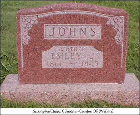 RHODES JOHNS, EMLEY JANE - Washita County, Oklahoma | EMLEY JANE RHODES JOHNS - Oklahoma Gravestone Photos