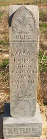 KERNS, ABRAHAM - Washita County, Oklahoma | ABRAHAM KERNS - Oklahoma Gravestone Photos