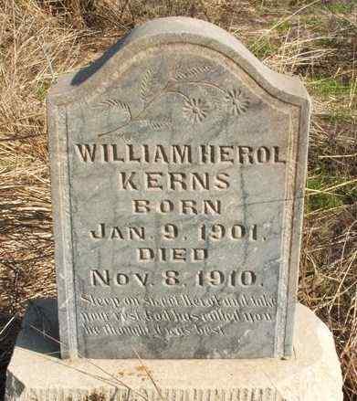 KERNS, WILLIAM HEROL - Washita County, Oklahoma | WILLIAM HEROL KERNS - Oklahoma Gravestone Photos