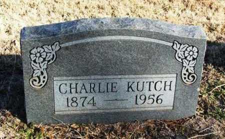 KUTCH, CHARLIE - Washita County, Oklahoma   CHARLIE KUTCH - Oklahoma Gravestone Photos
