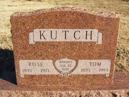KUTCH, TOM - Washita County, Oklahoma | TOM KUTCH - Oklahoma Gravestone Photos