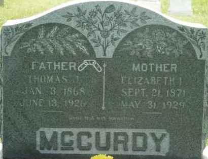 MCCURDY, THOMAS J - Washita County, Oklahoma | THOMAS J MCCURDY - Oklahoma Gravestone Photos