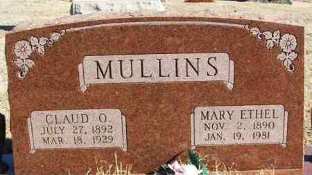 MULLINS, CLAUD O - Washita County, Oklahoma | CLAUD O MULLINS - Oklahoma Gravestone Photos