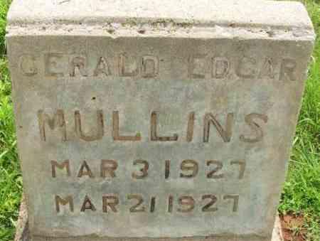 MULLINS, GERALD EDGAR - Washita County, Oklahoma   GERALD EDGAR MULLINS - Oklahoma Gravestone Photos