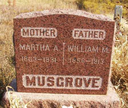 MUSGROVE, WILLIAM M - Washita County, Oklahoma | WILLIAM M MUSGROVE - Oklahoma Gravestone Photos
