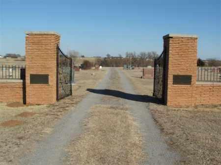 *NORTH BURNS, *ENTRANCE - Washita County, Oklahoma   *ENTRANCE *NORTH BURNS - Oklahoma Gravestone Photos