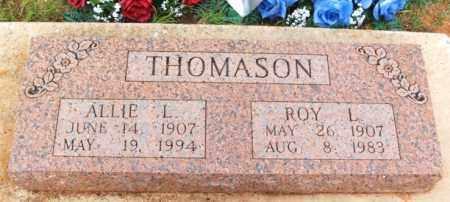 THOMASON, ALLIE L - Washita County, Oklahoma | ALLIE L THOMASON - Oklahoma Gravestone Photos