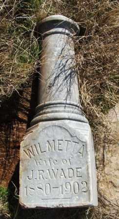 WADE, WILMETTA - Washita County, Oklahoma | WILMETTA WADE - Oklahoma Gravestone Photos