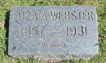 WEBSTER, ELIZA A - Washita County, Oklahoma | ELIZA A WEBSTER - Oklahoma Gravestone Photos
