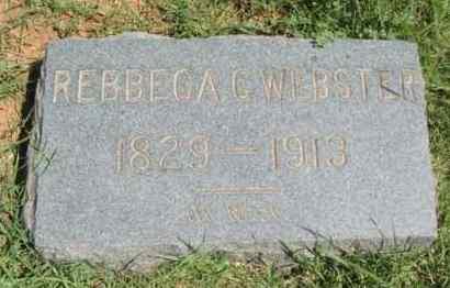 WEBSTER, REBBECA CAROLINE - Washita County, Oklahoma | REBBECA CAROLINE WEBSTER - Oklahoma Gravestone Photos