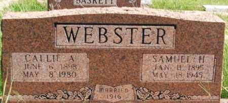 WEBSTER, CALLIE A - Washita County, Oklahoma | CALLIE A WEBSTER - Oklahoma Gravestone Photos